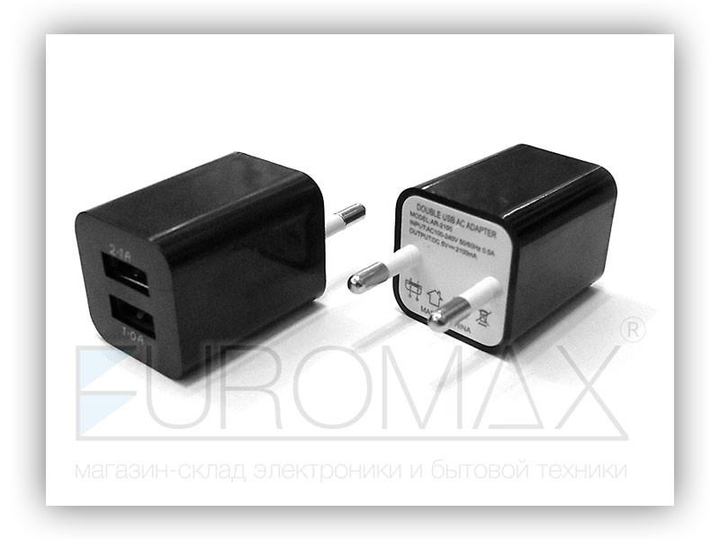 Зарядное устройство 220В USBx2 ART-011