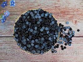 Полубусины перламутровые, 6 мм, цвет черный, 10 грамм (176-180 шт)