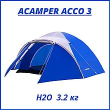 Палатка 3-х місна Presto Acamper ACCO 3 PRO синя - 3000мм. H2О - 3,2 кг.