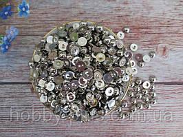 Полубусины металлизированные, 8 мм, цвет СЕРЕБРО, 10 грамм (~65 шт)