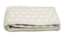 Детское одеяло-плед Vladi 100х140 Горох бежевый