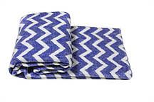 Детское одеяло-плед Vladi 100х140 Зигзаг голубой