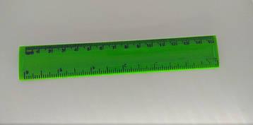 Линейка для черчения пластиковая 15 см Inch Зеленая