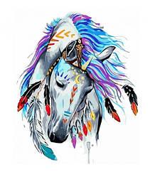 Картина по номерам Идейка Животные Грациозный воин 40х50 см (KHO4002)