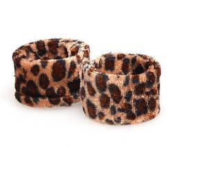 Заколка Хэагами (Hairagami) из двух пластин леопард