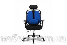 Кресло для врача Barsky ER-04 Ergonomic black, кресло из ткани, черный / синий, фото 2