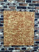 Самоклеючі шпалери Декоративна 3D панель ПВХ 1шт, червоно-коричневий мармурова цегла