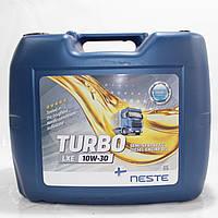 Масло моторне напівсинтетичне Neste Turbo LXE 10W30 (API CI-4,CH,СG,CF-4), 20л
