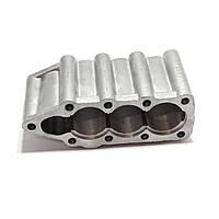 Крышка гидрораспределителя МР-80 нижняя алюминиевая Р80-23.20.123 утюг (3 секции) гидрораспределителя, фото 1
