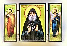 Преподобний Гавриїл (Ургебадзе) Самтаврийский, архімандрит. Ікона. Складення дерев'яний 58Х84