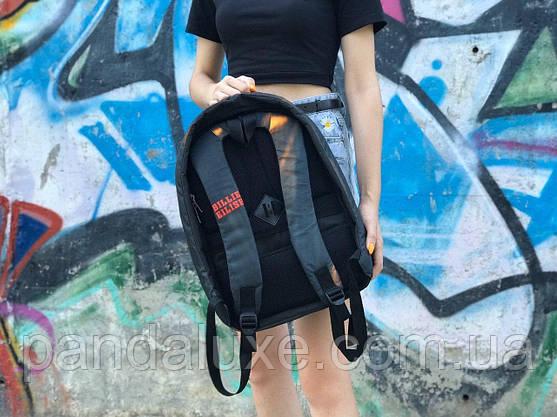 Рюкзак молодежный подростковый c ортопедической спинкой и принтом Bilie Eilish Билли Айлиш 41х30см, фото 3