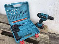 Беспроводной шуруповерт Makita 550 DWE 24V 5A/h Li-Ion аккумуляторный Макита с набором инструментов