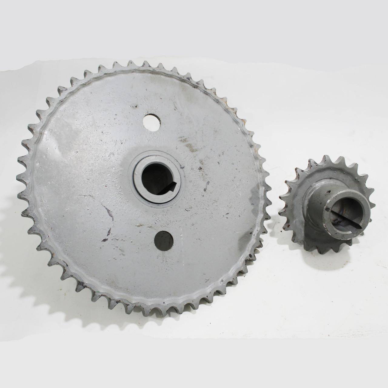 Комплект звездочек для уменьшения оборотов барабана Енисей Z-49 Z-19