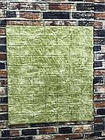 Самоклеючі шпалери Декоративна 3D панель ПВХ 1шт, темно-зелений блакитний мармурова цегла