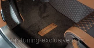 MANSORY leather floor mats for Bentley Flying Spur 3