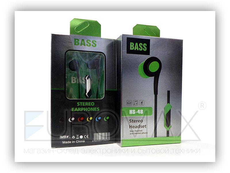 Наушники вакуумные с микрофоном Basss HS-48