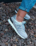 Кроссовки женские New Balance 574 grey (нью беленс серые)