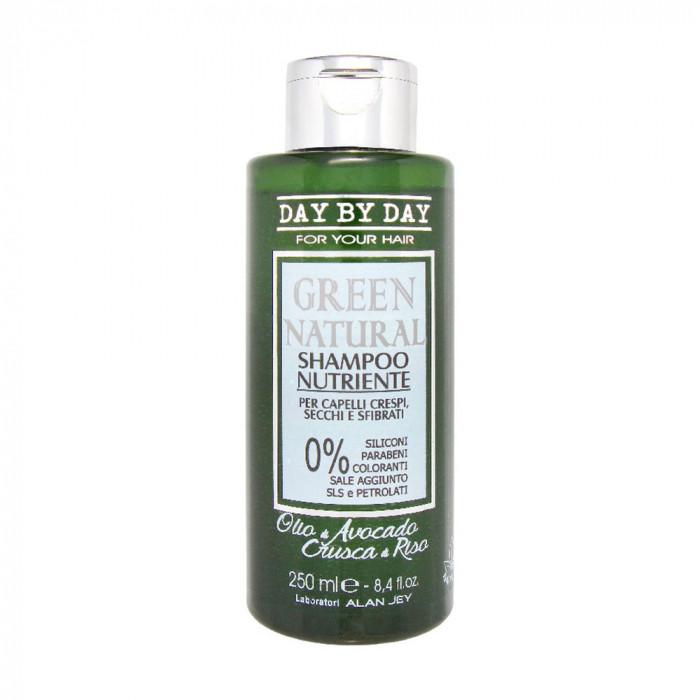 Шампунь Alan Jey Green Natural Shampoo питательный, для вьющихся, сухих и поврежденных волос, 250 мл