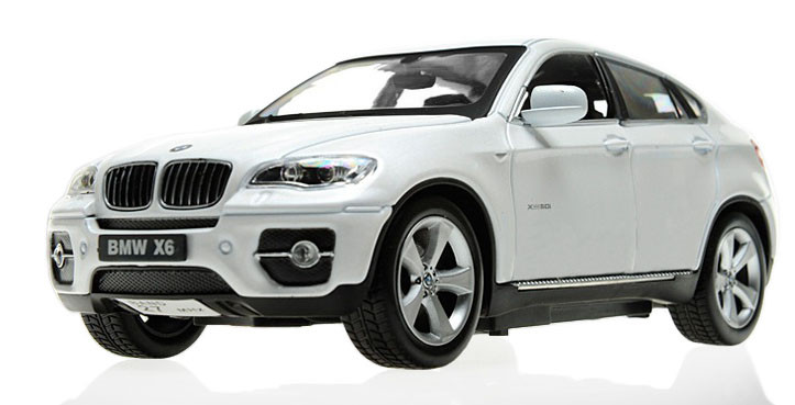 Машинка р/у 1:24 Meizhi лиценз. BMW X6 металлическая (белый) - Интернет магазин КАЙФ в Киеве