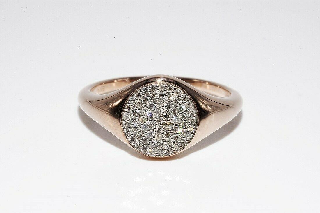 Золотое кольцо 585 проба  Бриллианты 0.35 Ct   Размер 17.25 Сертификат