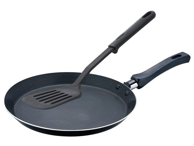 Сковорода блинная с лопаткой 22 см Wellberg WB-9706