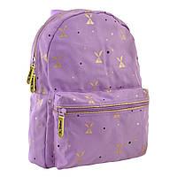 Городской Стильный женский рюкзак сиреневого цвета YES Rabbit party