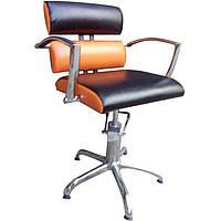 Крісло перукарське Tornado на пневматиці з хромованою хрестовиною