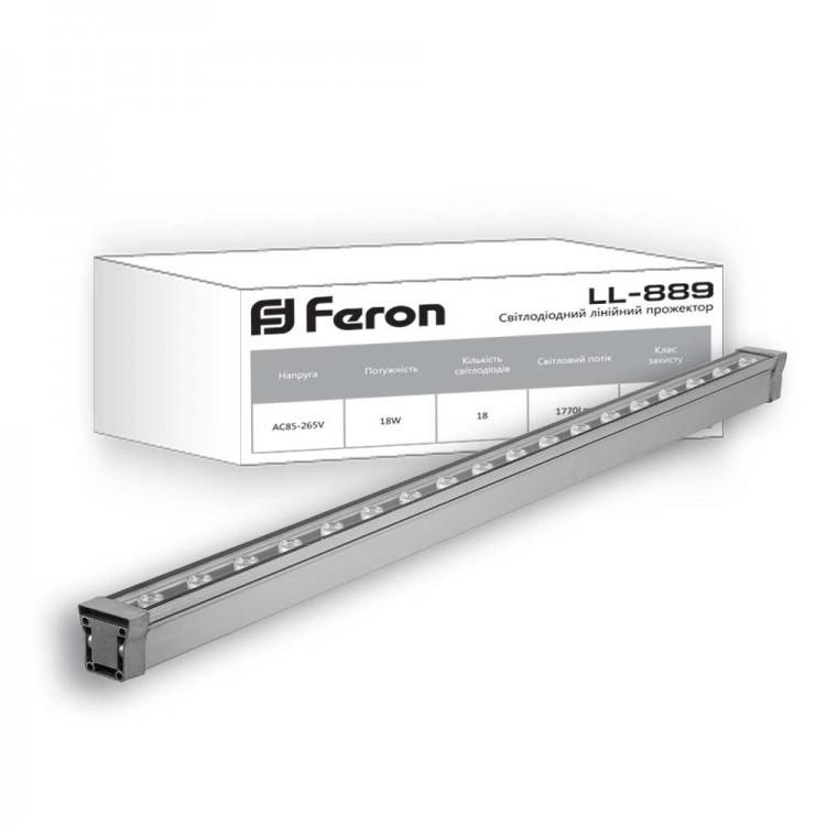 Прожектор линейный архитектурный Feron LL-889 18W 1770 lm 2700K 85-265V IP65 (32155)