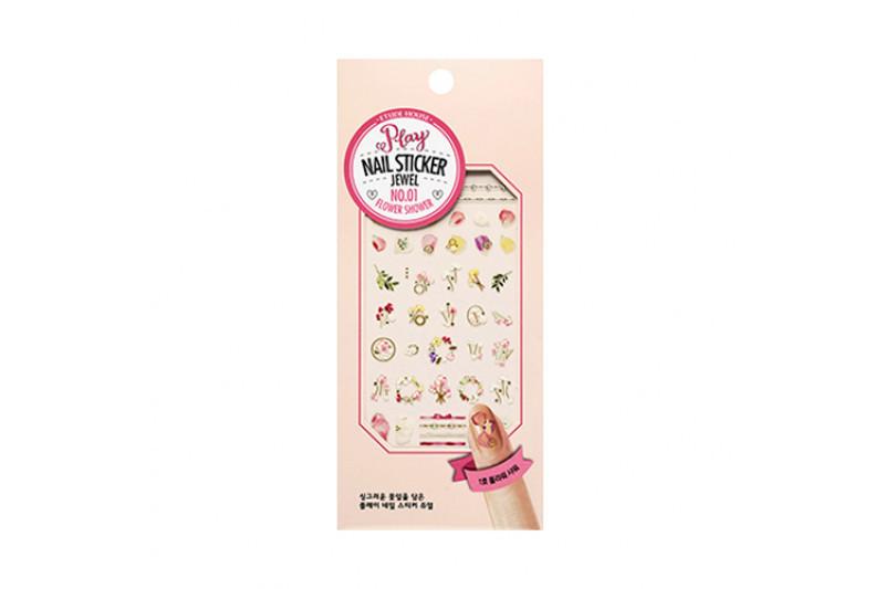 Наклейки для дизайна ногтей Etude House Play Nail Sticker Jewel #1 Flower Shower