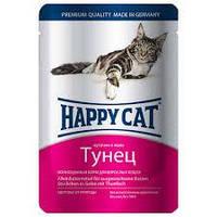 Happy cat кусочки в желе с тунцом 100 г