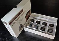 """Набор камни кубики для виски металл 8 шт с пинцетом в подарочной коробке Decanto 980025 """"Трезубец"""""""