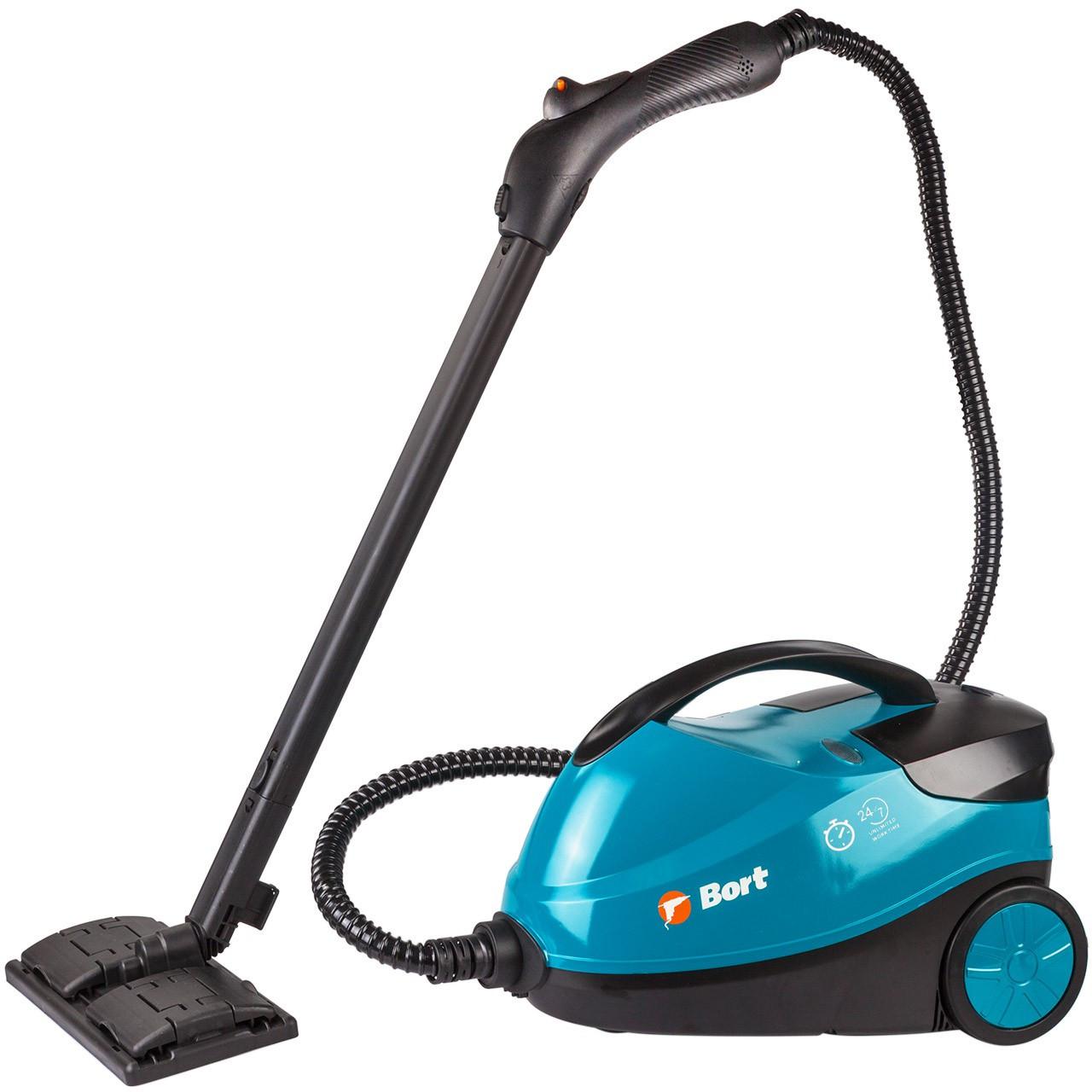Домашний пароочиститель Bort BDR-2500-RR, 2200 Вт, 4бар, 143°C, 1,5л, 5,2кг, индикатор нагрева, насадки 12 ед.