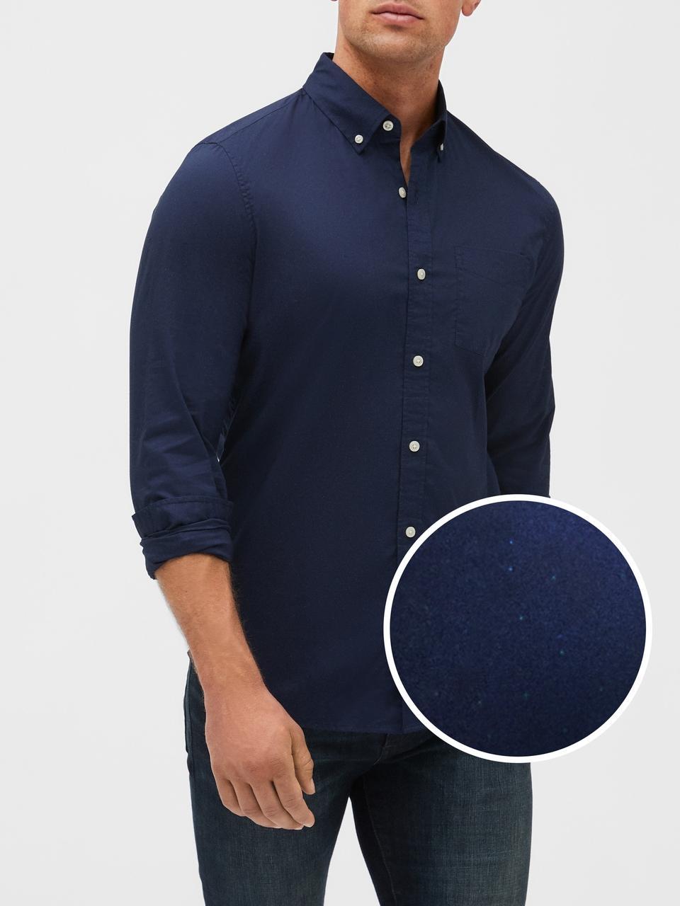 Мужская рубашка в горох GAP art584525 (Синий, размер XS)