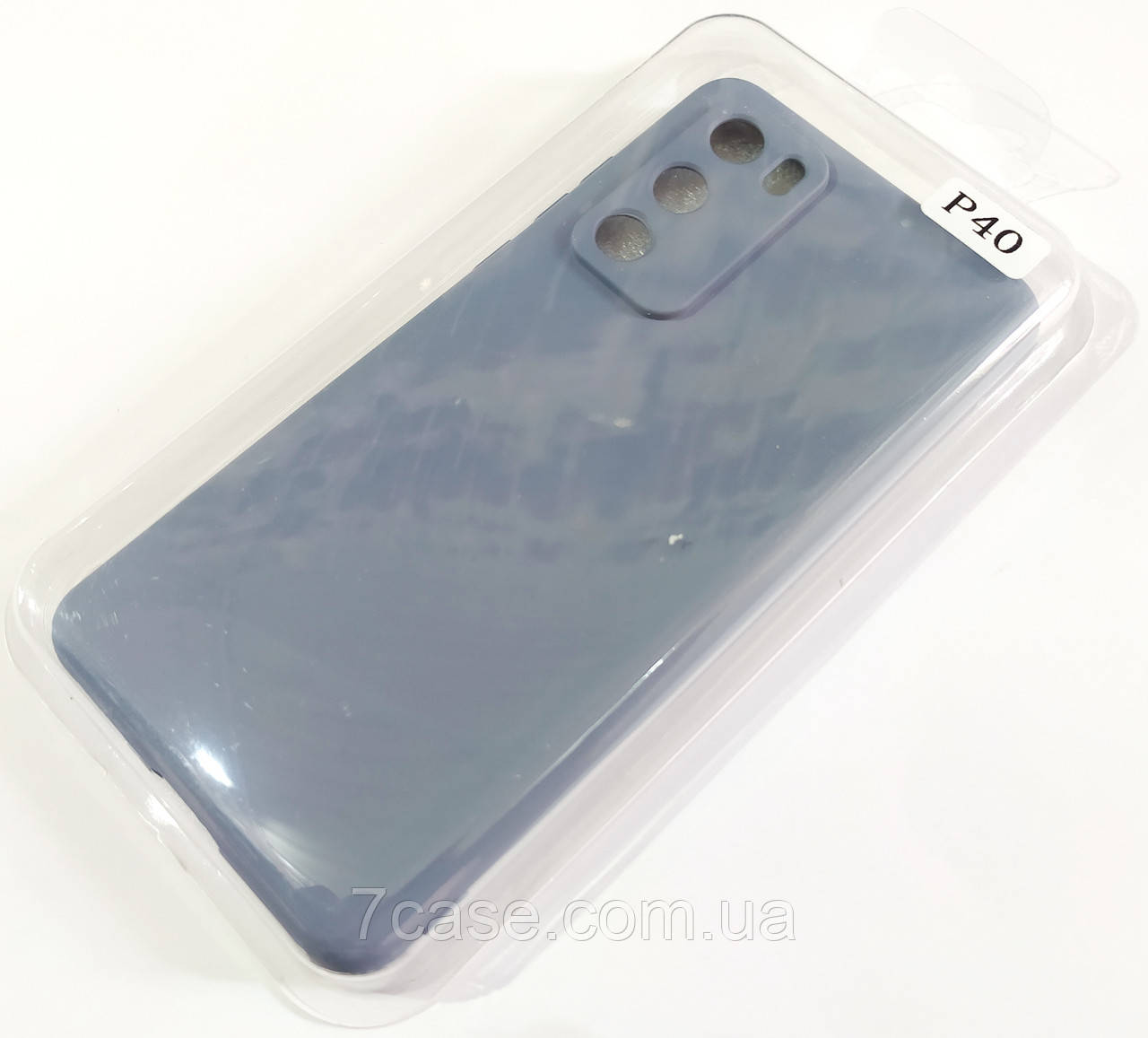 Чехол для Huawei P40 матовый Silicone Case Full Cover Macarons Color
