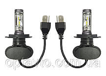Светодиодные лампы Н-4. LED лампы H4 6000K 4000Lm. 12-24V \Тип охлаждения - радиатор. Пр-во Корея.