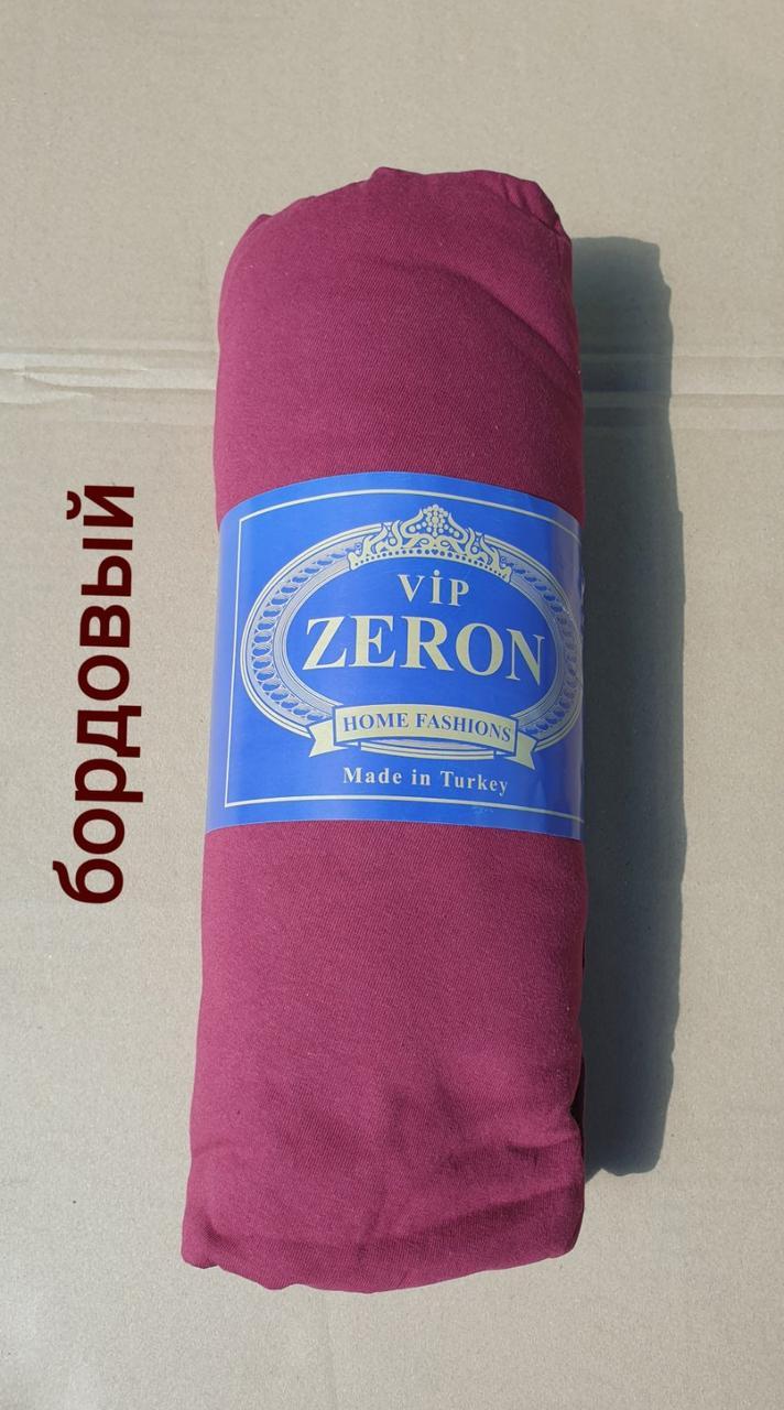 Простынь на резинке трикотажная 160*200 бордовый (TM Zeron), Турция