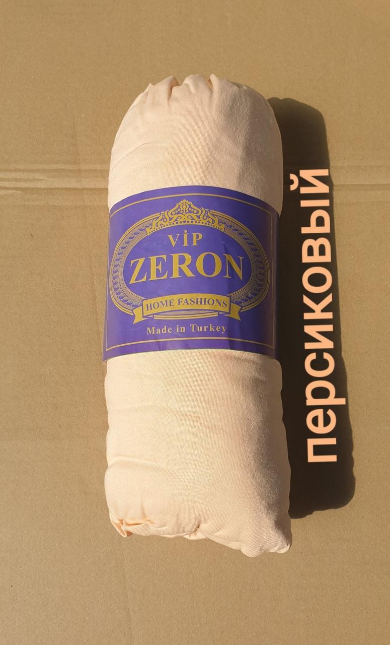 Простынь на резинке трикотажная 160*200 персиковый (TM Zeron), Турция