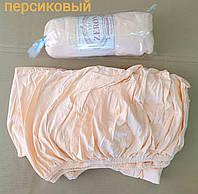 Простынь на резинке трикотажная 180*200 персиковая (TM Zeron), Турция 1247905527
