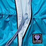 Ветровка для девочки SmileTime на подросткладе Stylish, бирюзовый, фото 5
