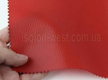 """Кожвініл """"DOLLARO"""" меблевий полу-глянец червоний, для перетяжки м'якого куточка, дивана, крісел, шир 1.4 м"""