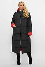 Двустороннее стеганое пальто Поли черный (56-62)