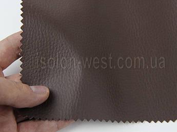 """Кожвініл """"DOLLARO"""" меблевий полу-глянец коричневий, для перетяжки м'якого куточка, дивана, крісел, шир 1.4 м"""