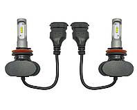 Светодиодные лампы Н-11. LED лампы H-11 (H8/H9/H16) 6000K 4000Lm. Тип охлаждения - радиатор. Пр-во Корея
