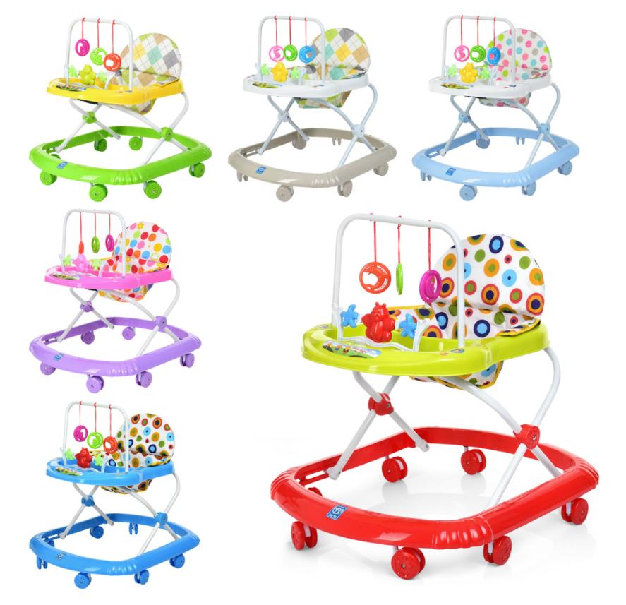 Дитячі Ходунки з підвісними іграшками
