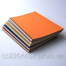 Эко блокнот с цветной обложкой А5 на пружине.