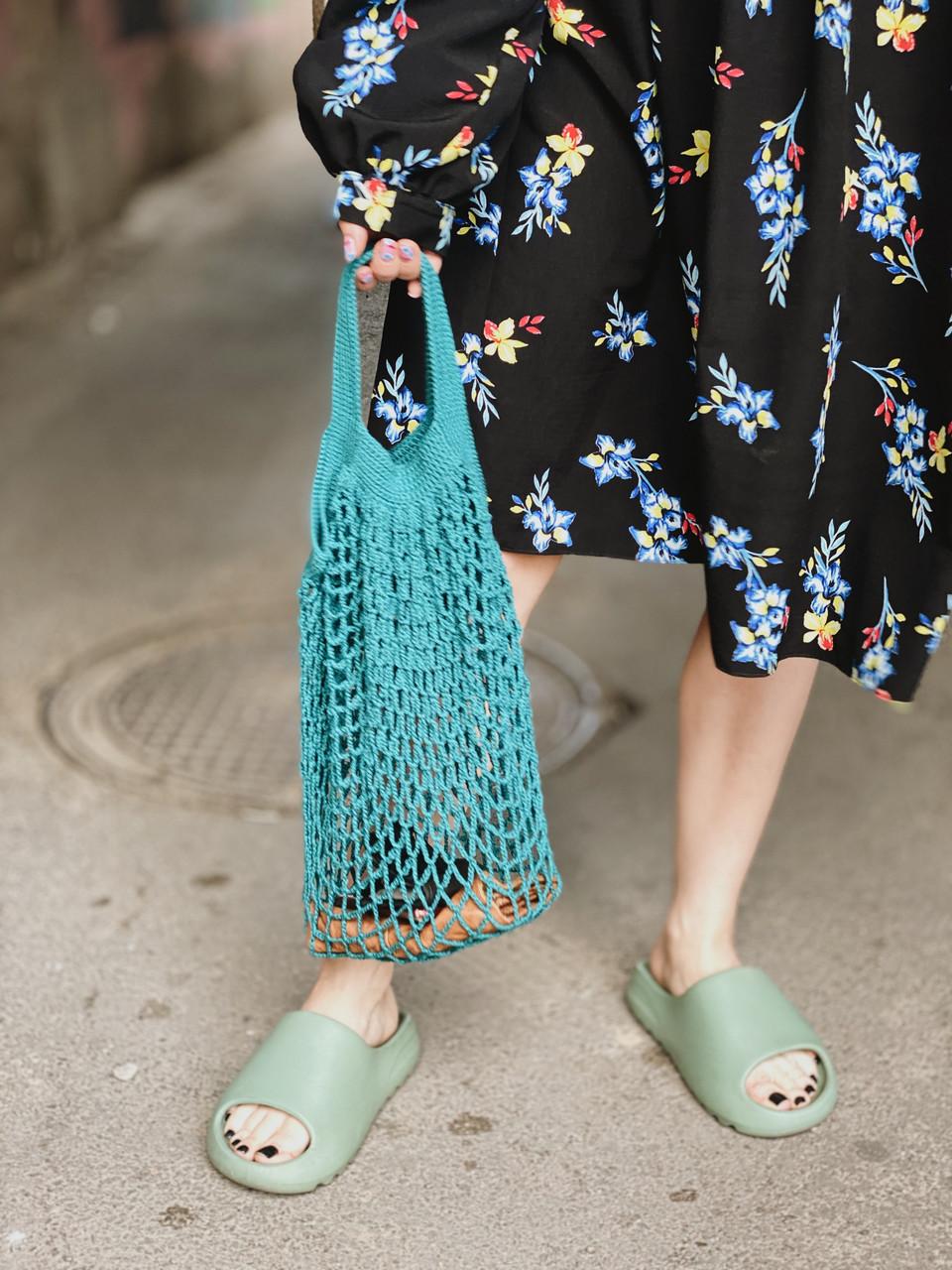 Авоська Maybe, сумка-авоська, авоськи оптом, сумка для продуктов, сумка сетка, сетчатая сумка - фото 3