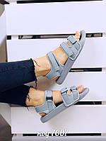 Легкие серые спортивные босоножки из обувного текстиля (3В), фото 1