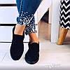 Короткие легкие ботинки из эко-замши черного цвета (11В)