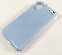 Чехол для Huawei P40 lite матовый Silicone Case Full Cover Macarons Color Голубой