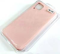 Чохол для Huawei P40 lite матовий Silicone Case Full Cover Macarons Color Рожевий